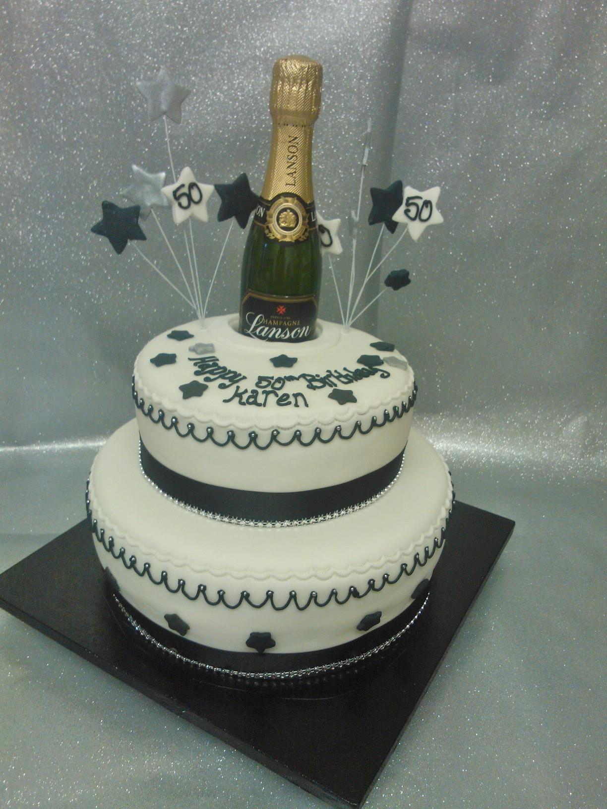 Pin Crosswords And Champagne Bottle Birthday Cake For ...